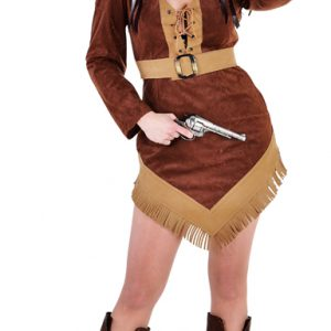 Cowboy Vrouw Jurk Kort