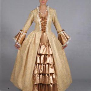 Markiezin jurk goud