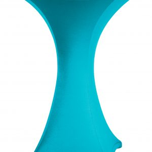 Statafel rok Stretch Turquoise 80 cm